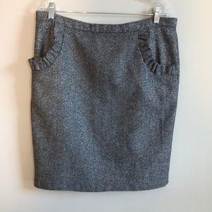 [Anthropologie] Metallic tweed skirt